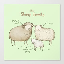 The Sheep Family Canvas Print