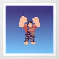 wreck it ralph Art Prints featuring Ralph by pokegirl93