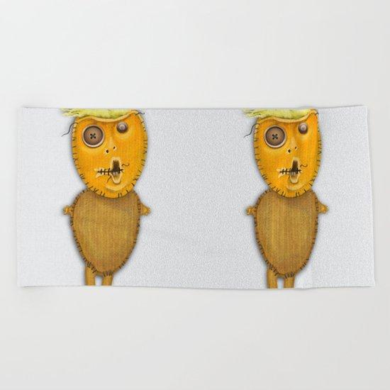 Orange Doll Beach Towel