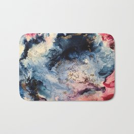 Rage - Alcohol Ink Painting Bath Mat