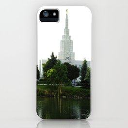 Idaho Falls Temple - Early Morning iPhone Case
