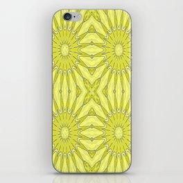 Yellow Pinwheel Flower iPhone Skin