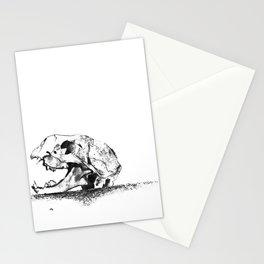 mittens - cat skull Stationery Cards