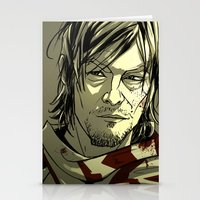 daryl Stationery Cards featuring Daryl Dixon by David Cousens