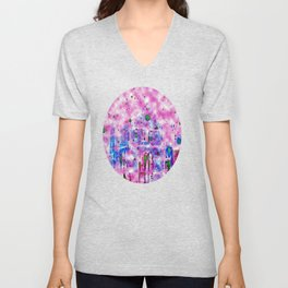 Shrewsbury up in the Clouds  Unisex V-Neck