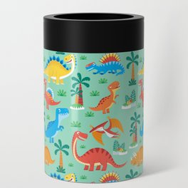Dinos Green Can Cooler