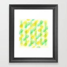 Summer Pineapples Framed Art Print