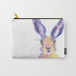 Rainbow Hare Carry-All Pouch