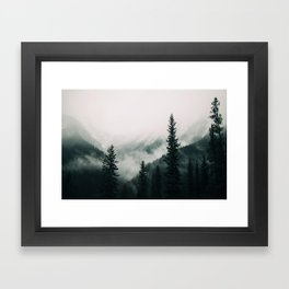 Over the Mountains and trough the Woods -  Forest Nature Photography Framed Art Print
