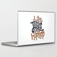 hip hop Laptop & iPad Skins featuring Jesus and Hip hop by Chelsea Herrick