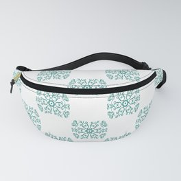 Abstract Swirls and Spirals Tile Design Fanny Pack