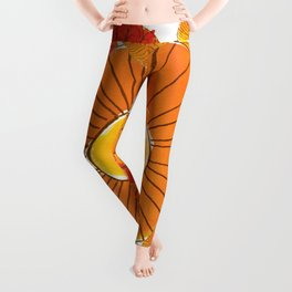 soles naranjas Leggings
