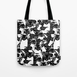 just penguins black white Tote Bag