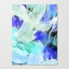 Petals in Blue Canvas Print