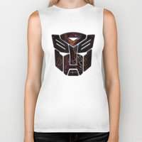 transformers Biker Tanks featuring Autobots Abstractness - Transformers by DesignLawrence