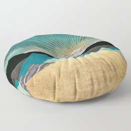 Peacock Vista Floor Pillow