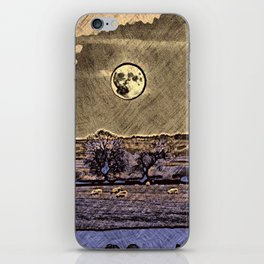 Moon over Debdale iPhone Skin