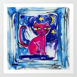 Angel Kitty by Kathy Morton Stanion Art Print