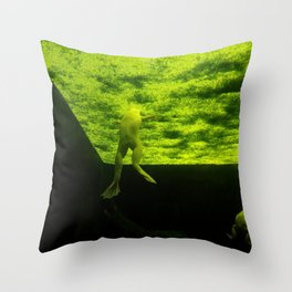 The Mysterious World Of Frogs Throw Pillow
