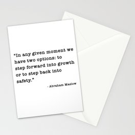 In any given moment we have two options Stationery Cards
