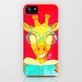 Librarian Giraffe iPhone Case