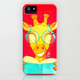 Librarian Giraffe iPhone Case