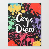 carpe diem Canvas Prints featuring Carpe diem by Julia Badeeva