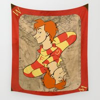 marauders Wall Tapestries featuring Fred and George by Imaginative Ink