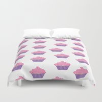 cupcakes Duvet Covers featuring Cupcakes by CassieLeigh