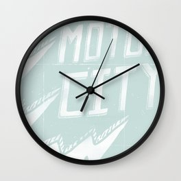 Motor City is Electric Wall Clock