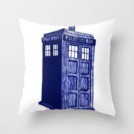 T.A.R.D.I.S. Throw Pillow