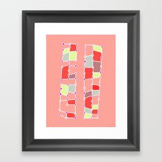 Indoor Constellation (Red) Framed Art Print