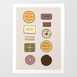 British Biscuits Art Print