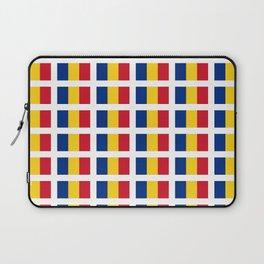 Flag of romania-romania,romanian,balkan,bucharest,danube,romani,romana,bucuresti Laptop Sleeve