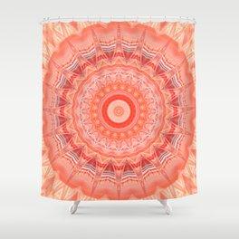 Mandala soft orange 3 Shower Curtain
