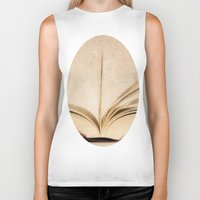kindle Biker Tanks featuring Silent Reading II by Rose Etiennette