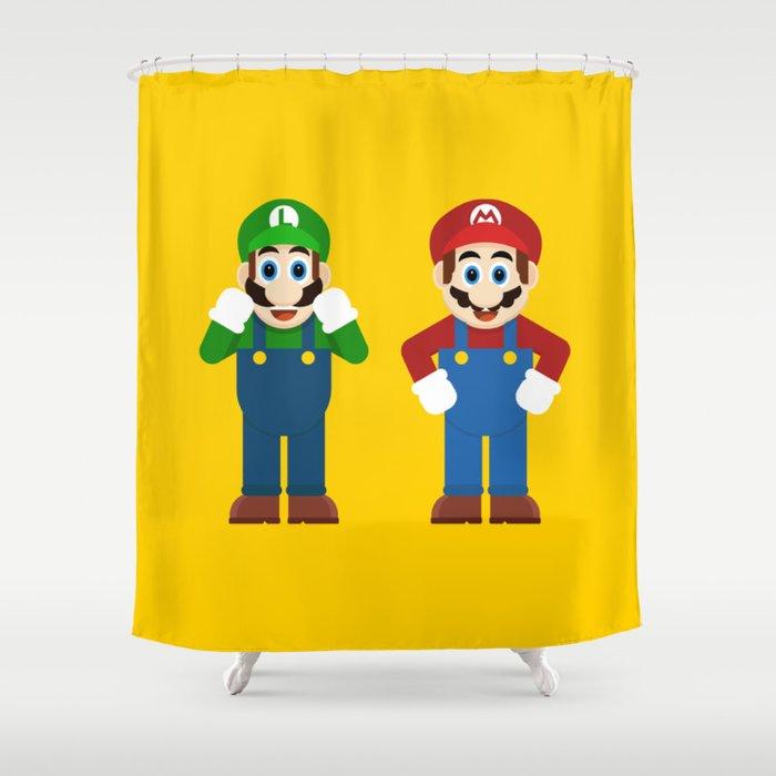 Mario Luigi Shower Curtain