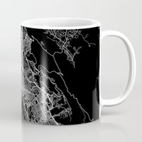 oakland Mugs featuring oakland map california by Line Line Lines