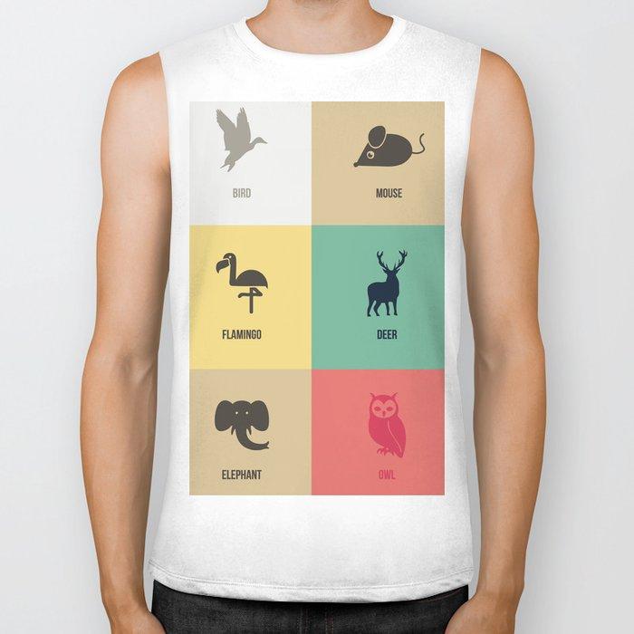 Animals colors Biker Tank