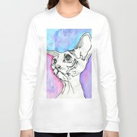 psych Long Sleeve T-shirts featuring Psych Sphinx by Szilvia Lucas