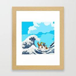 Link adventure Framed Art Print