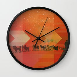 Feed The Right Dogs Wall Clock