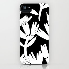 Big daisy black and white iPhone Case