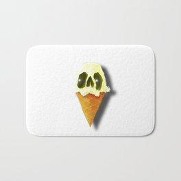 Skull Yellow Ice Cream Bath Mat