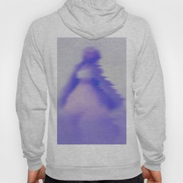 blurry blue woman Hoody