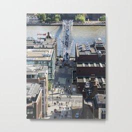 The Millenium Bridge Metal Print