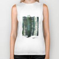 birch Biker Tanks featuring birch trees by hannes cmarits (hannes61)