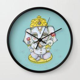 Peaceful Ganesha Illustration Wall Clock