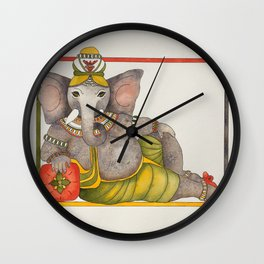 Ganesha reclining Wall Clock