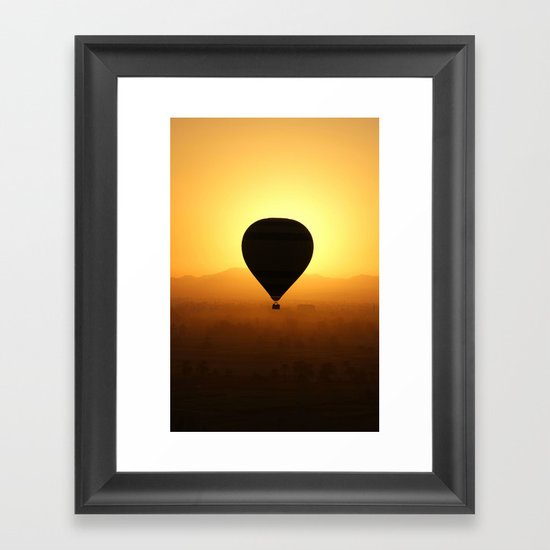 Balloon Over Valley of the Kings Framed Art Print